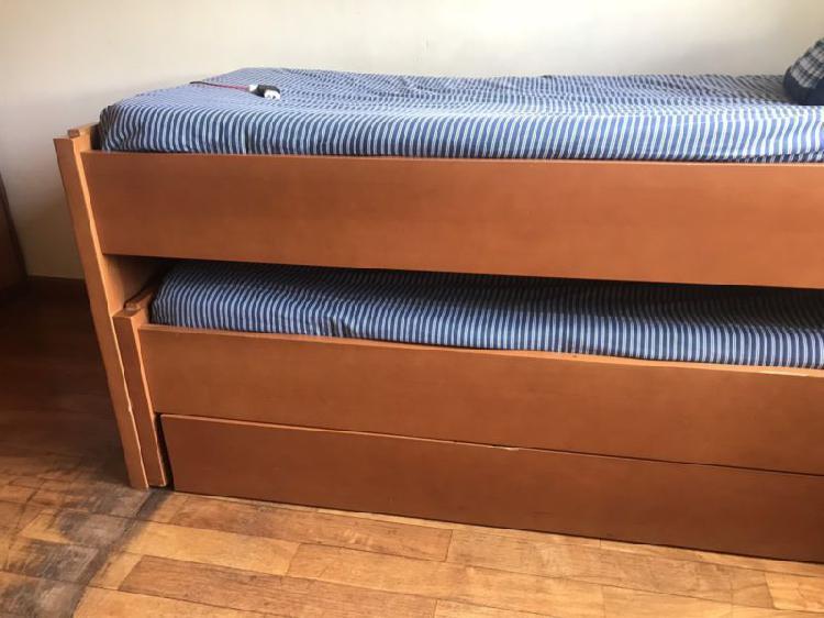 Juego dormitorio juvenil CAMA NIDO TRIPLE CORDONNE