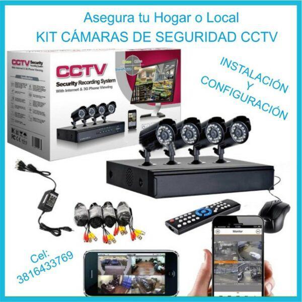 Kit SISTEMA CAMARAS DE SEGURIDAD CCTV