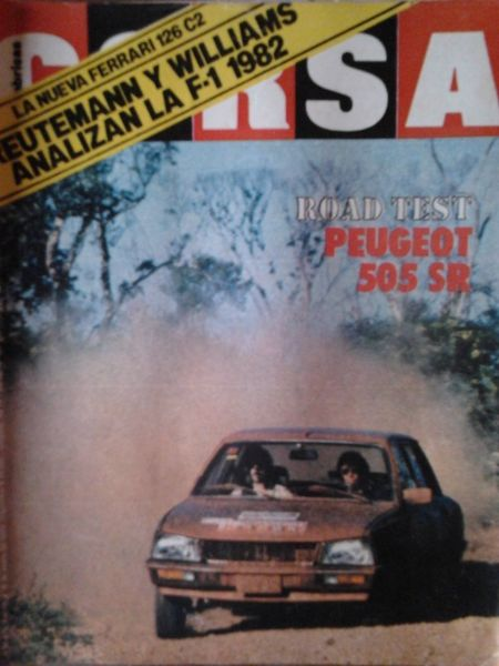 revista corsa nro  road test peugeot 505 SR