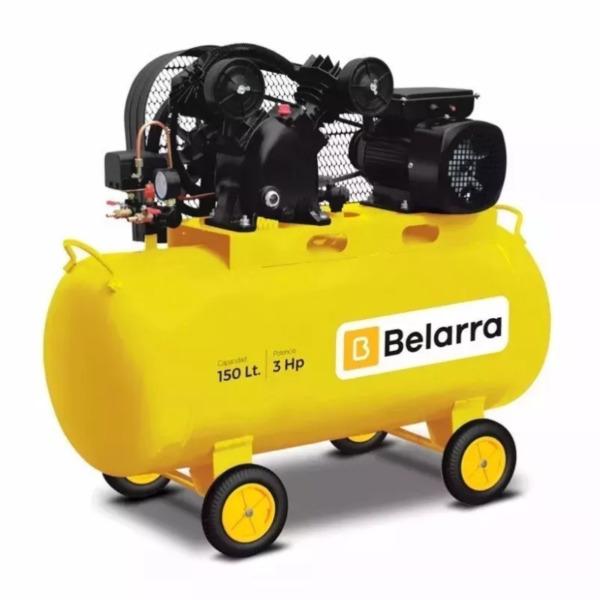 Compresor De Aire 150 L 3 Hp A Correa Monocilindrico Belarra