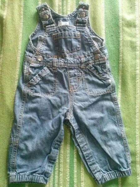jardinero- pañalero jeans yamp! talle: 6 meses (grande),