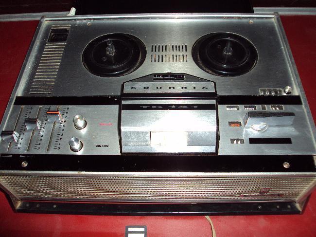 Grabadora de cinta abierta Grundig / Alemana_ Vintage_
