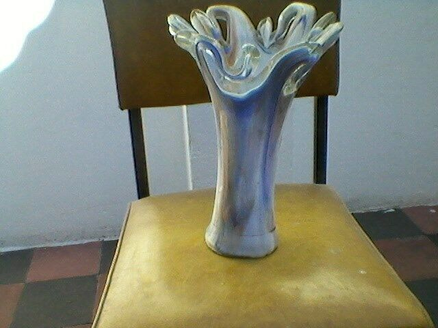 Jarrón Florero Cristal de Murano. Retro Vintage.