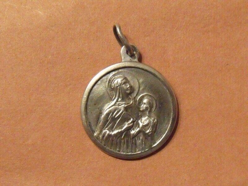 Medalla Dije de La Virgen María Y El Niño Jesús - Alpaca