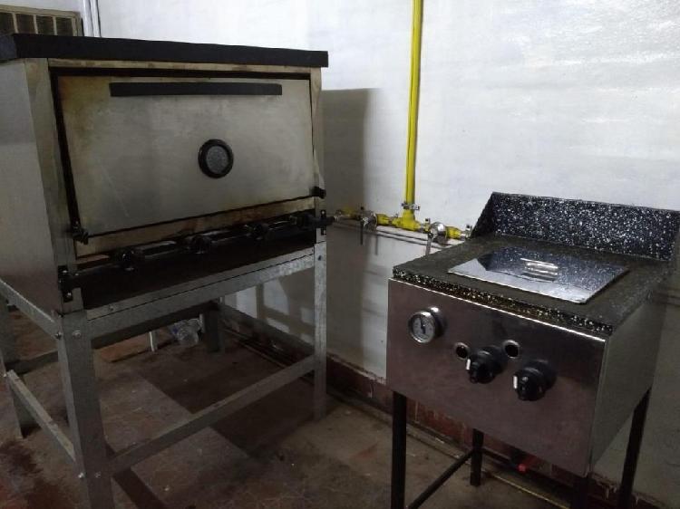 Horno y freidora usados