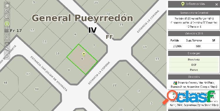 Lote 600 ms Barrio Santa celina