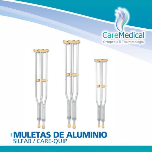 Muletas de Aluminio - Silfab / Care-Quip - Ortopedia Care
