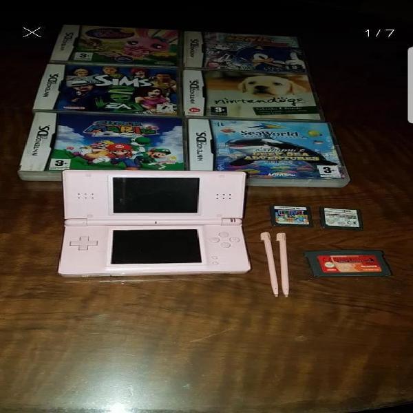 Nintendo Ds Lite con 9 Juegos