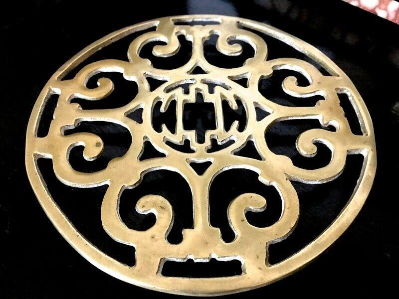 Posa Fuente O Apoya Pava Antiguo Bronce Macizo Cincelado