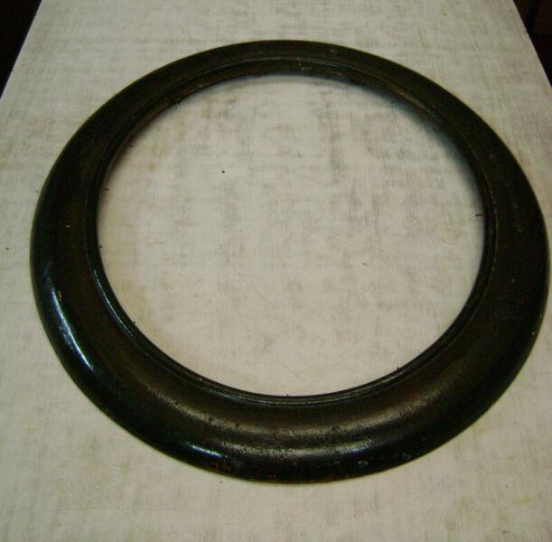 Antiguo Marco Oval De Madera Ideal Espejo