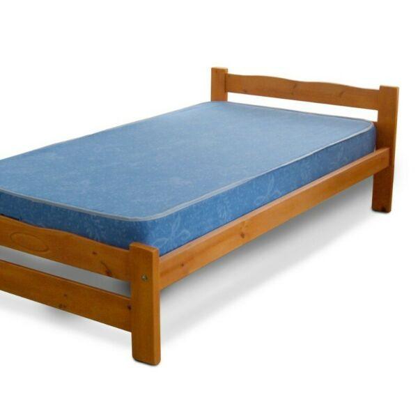 Cama y colchón 1 1/2 Plaza