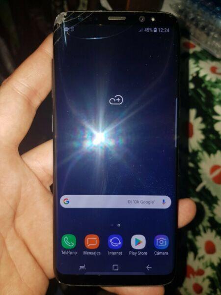 SAMSUNG S8 COMUN 64GB LIBRE PANTALLA MARCADA NO AFECTA EN