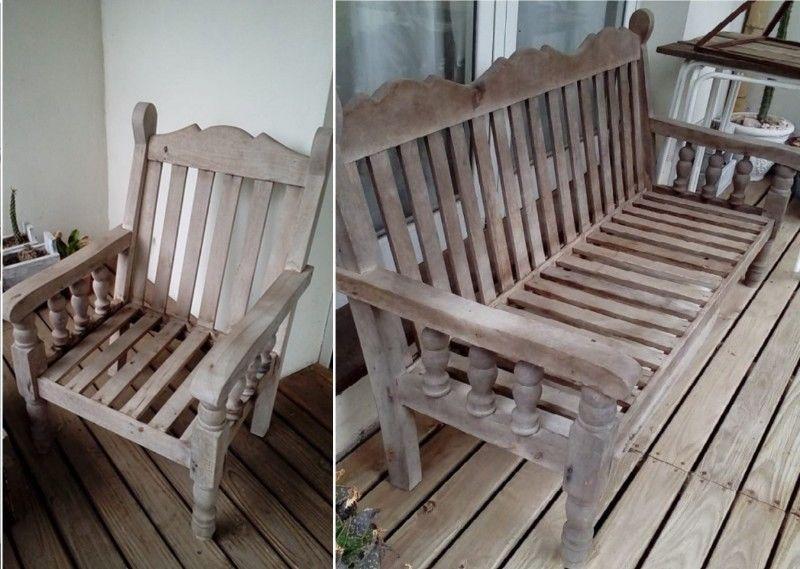 Juego de sillónes de algarrobo 1 cuerpo y 2 cuerpos