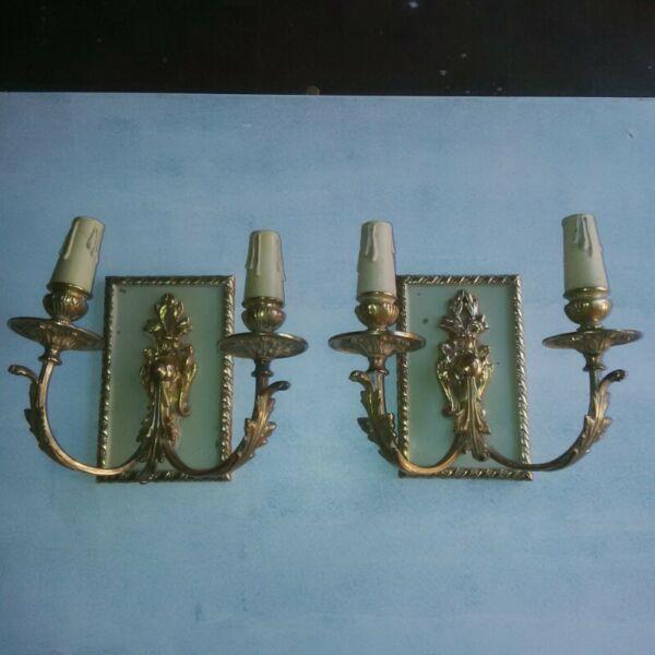 Apliques antiguos de bronce estilo frances