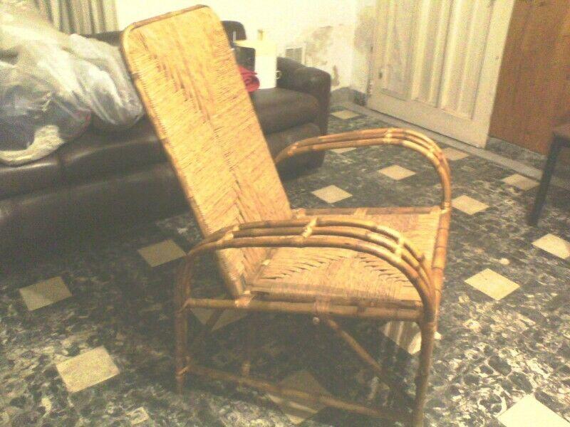 Vendo sillón de caña y junco excelente estado