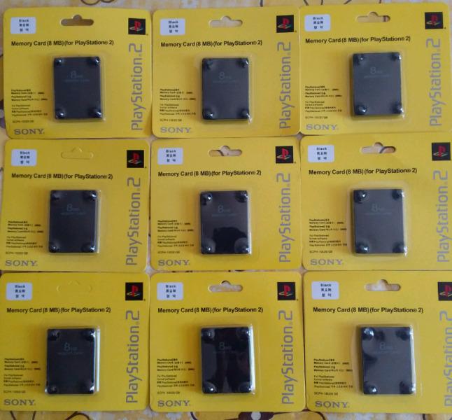 Memory Card Memoria 8 Mb Ps2 Play 2 Sony Original Scph Scph