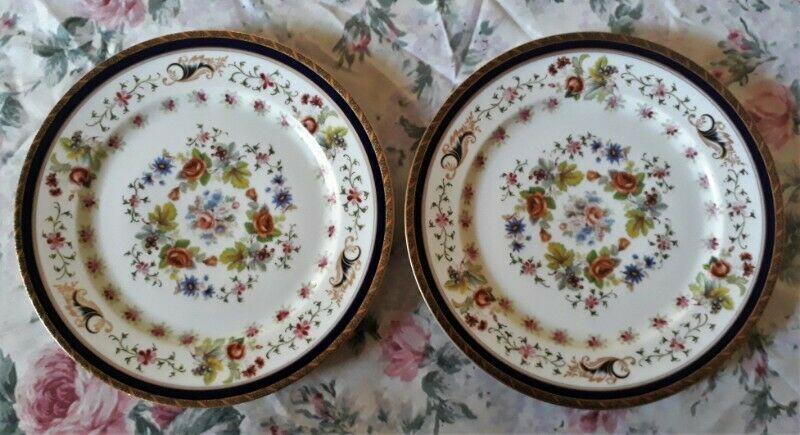 2 Platos Playos De Porcelana Rosen Thale Selb Germany 26 Cm