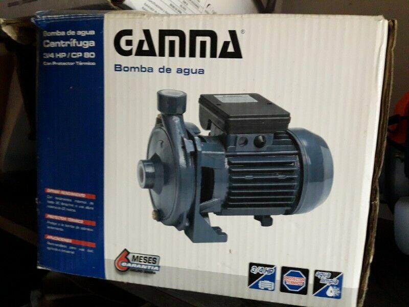 Bomba de agua Gamma 3/4HP muy poco uso, perfecto estado