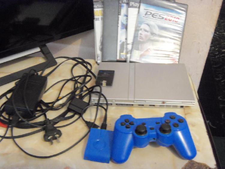 Play 2, PS2, 1 joystick inhalambrico, memoria, juegos,