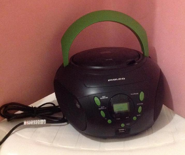 REPRODUCTOR MP3, USB, CD, RADIO AM/FM PHILCO