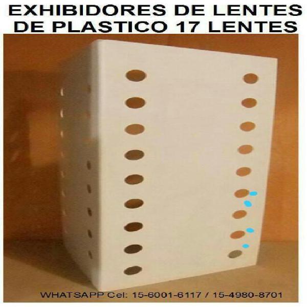 Exhibidores DE plástico PARA LENTES