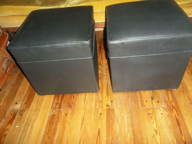 PUFF 40 cm X 40 cm color negro - 2 X $ - Zona Centro.-