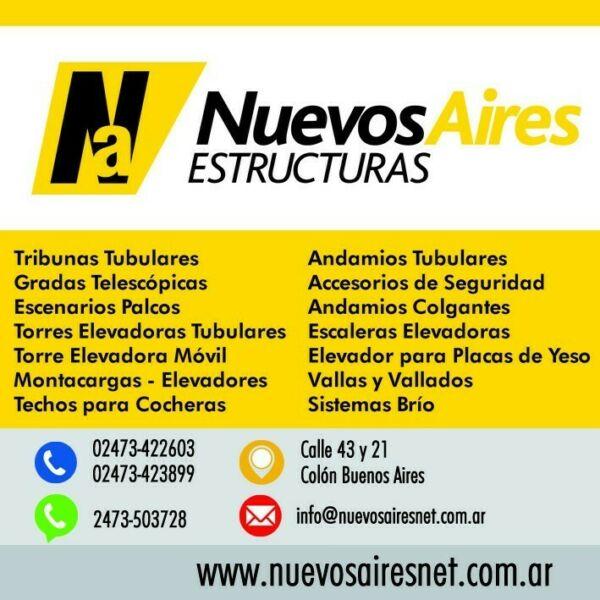 Tribunas Gradas Escenarios Montacargas Torres Elevadoras