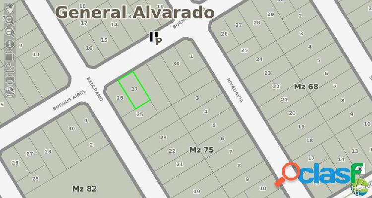 VENTA DE LOTE EN BARRIO BRISTOL. 220m2