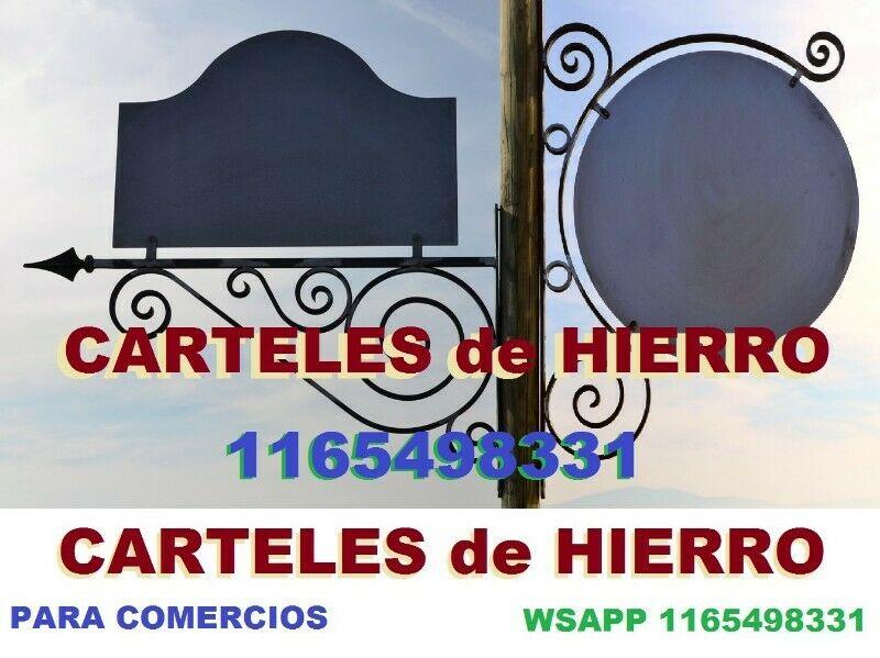 CARTELES de HIERRO ARTISTICOS