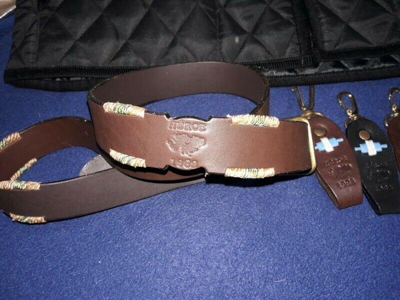 Cinturón de auténtico cuero estampado - Zona Sur