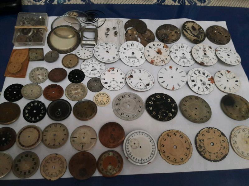 Lote de repuestos de relojes antiguos