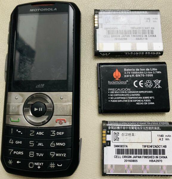 Motorola I418 con 3 Baterías usadas y 1 nueva sin uso. Le