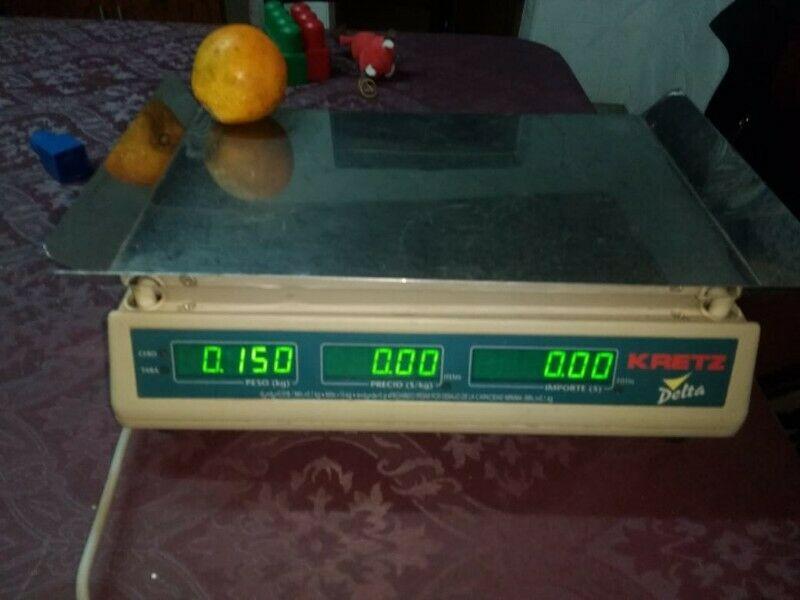 Balanza Electrónica Comercial KRETZ DELTA. Funciona