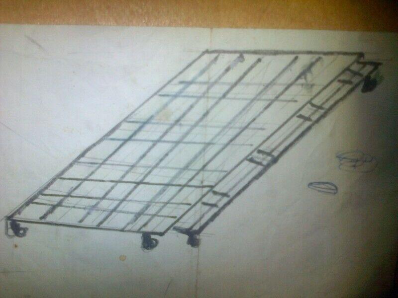 camas corredizas de hierro forjado 1 plaza