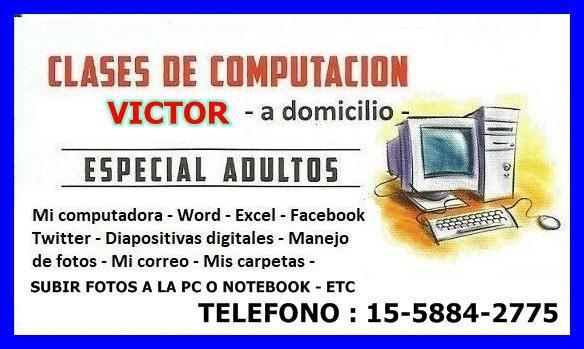 CLASES DE COMPUTACION A DOMICILIO EN FLORES Y FLORESTA