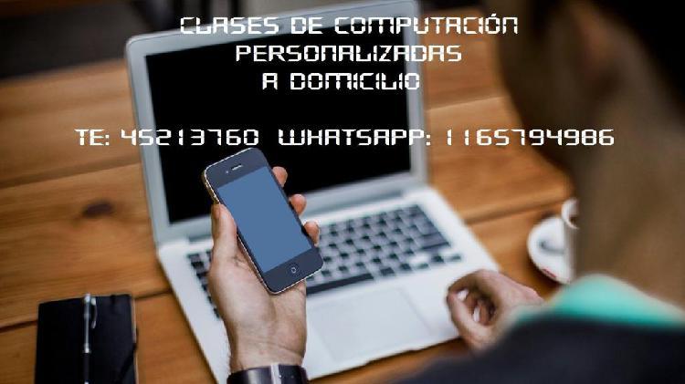 Clases de computación a domicilio en CABA