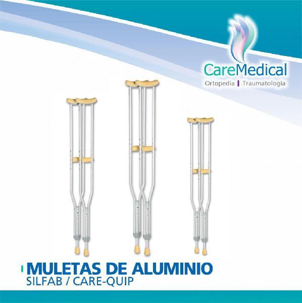 Muletas de Aluminio Silfab / CareQuip Ortopedia Care Medical