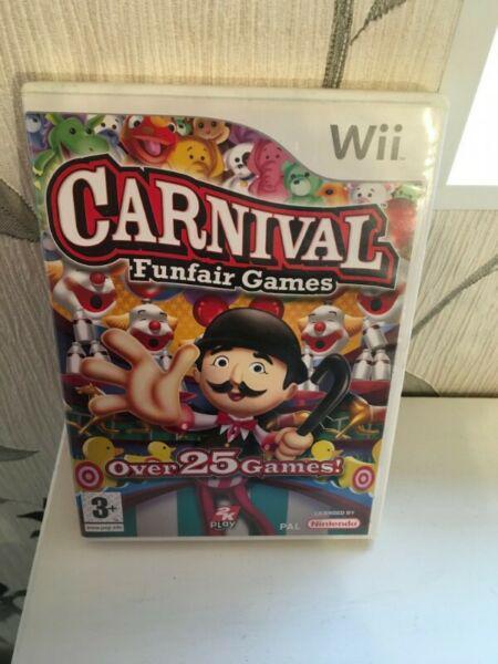 Carnival Funfair Games Wii juego fisico, genuino