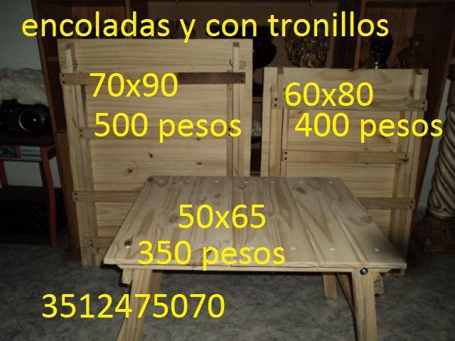 mesa plegable de madera pino 60 x 80 cm