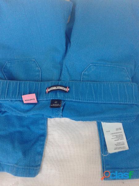 Pantalon Tommy Hilfiger Azul Francia T4 Usado 1 Vez Hermoso