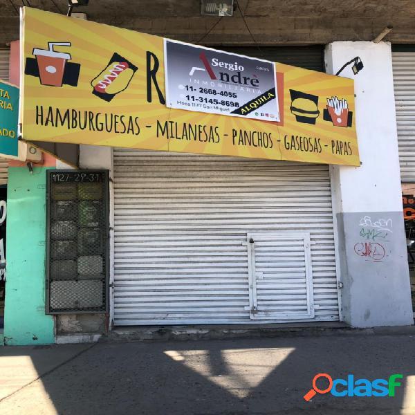 Local en alquiler en José C. Paz a metros de Avenida Perón