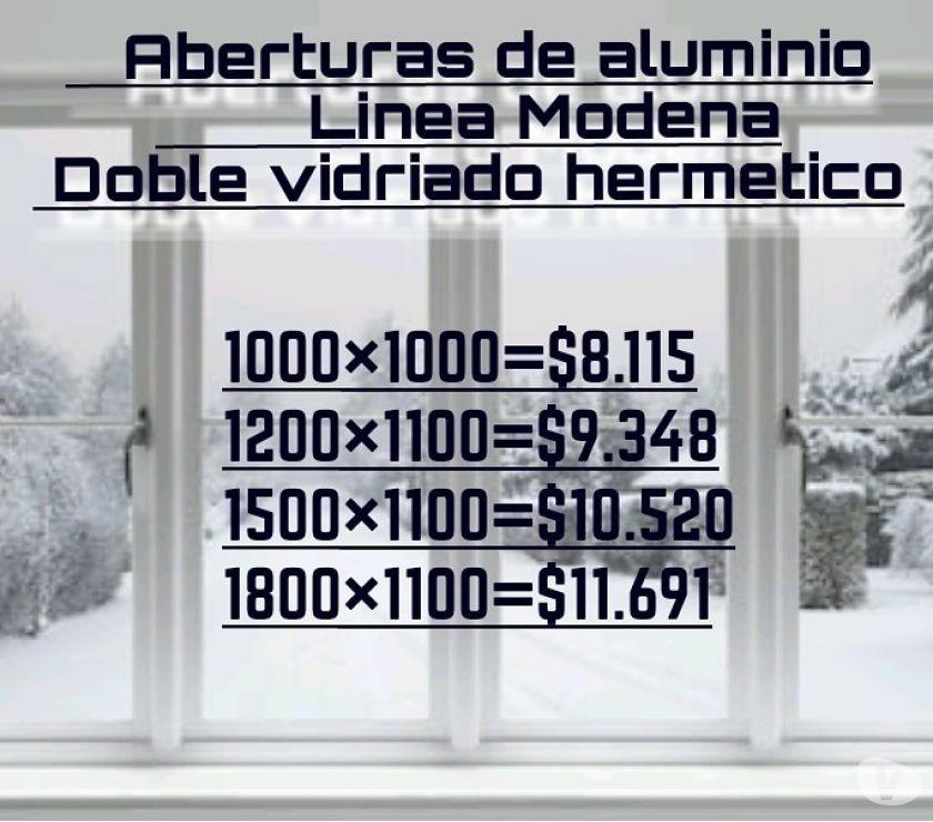 Aberturas de aluminio en gral.
