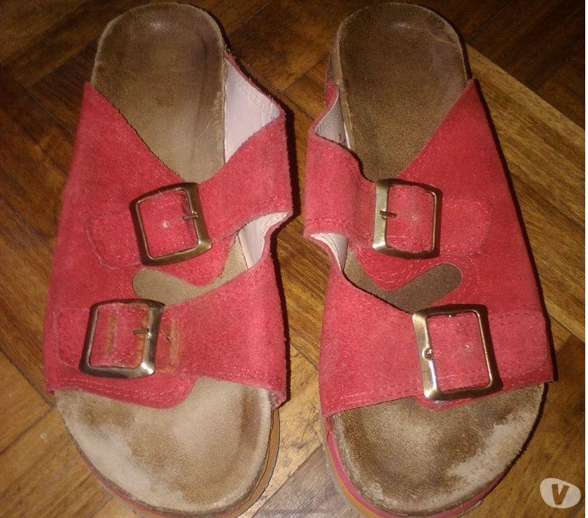 Zapatos de Mujer de Gamuza con Hebilla color Oro!!