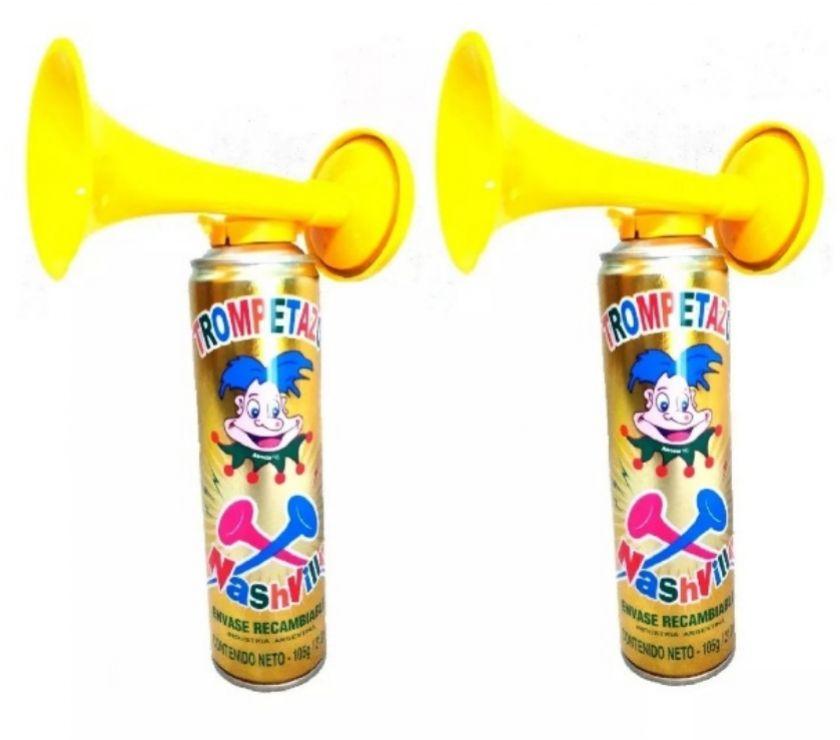 trompetas cornetas en aerosol de cotillón x6 nashville
