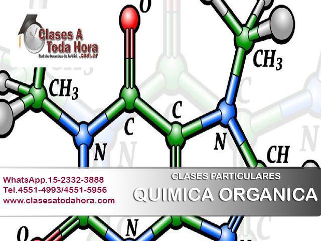 Clases particulares de QUIMICA ORGANICA y QUIMICA INORGANICA