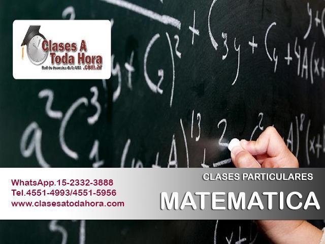 Clases particulares de matematica fisica y quimica nivel