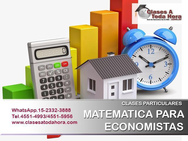 Clases particulares de matemática para economistas