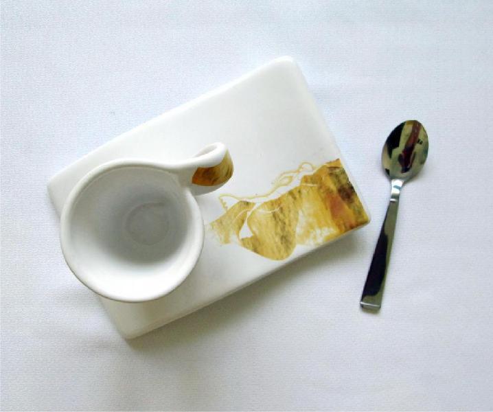Vajilla Decorada Set De Café Diseño Exclusivo