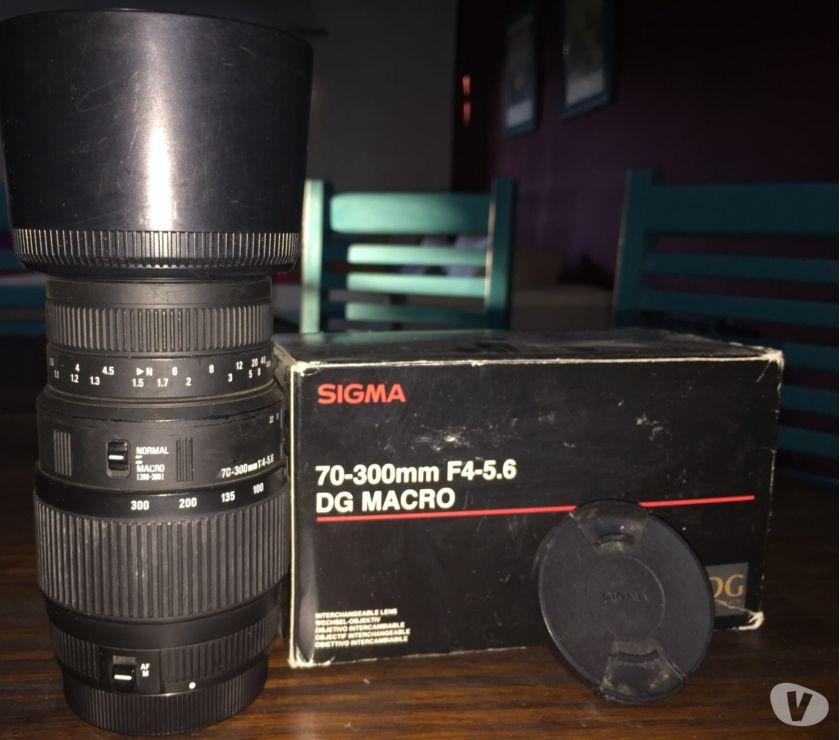 Lente Sigma mm F4-5.6 DG Macro con parasol y filtro UV
