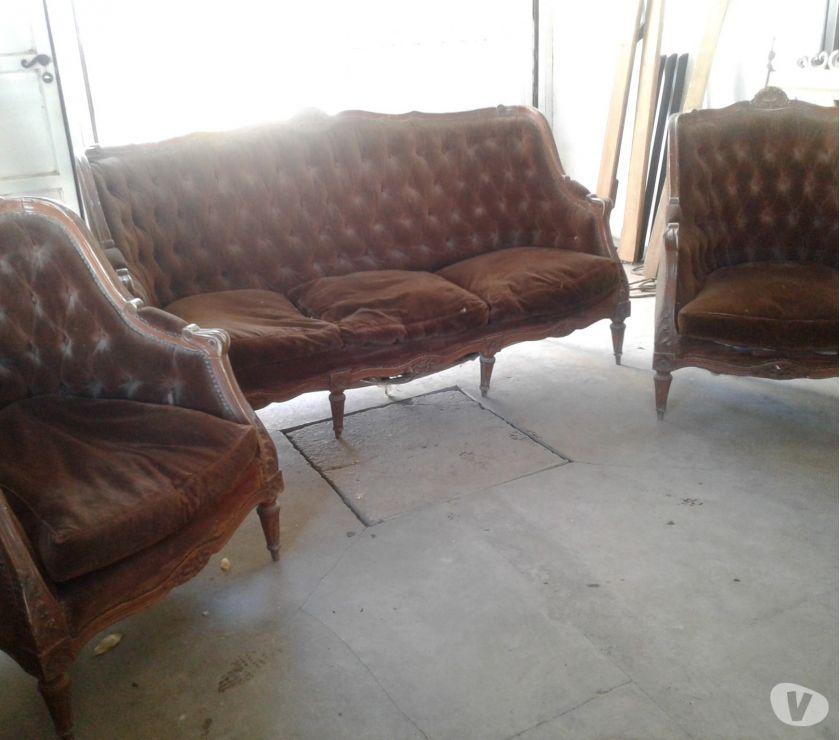 Vendo juego sillones Luis 15 a reciclar